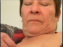 plump granny with the very hairy quim is satisfying by 18yo