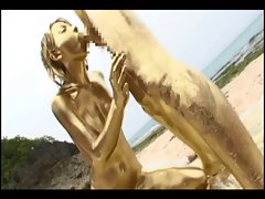 Jap gold bodypaint sex