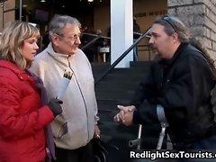 Obscene Slutty russian couple comes to Amsterdam