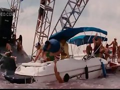 Celeb Kelly Brook nude and lactating in Piranha 3D