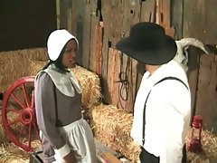 Amish farmer annalizes a ebony maid