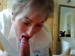 Attractive mature teacher sucks and squirting