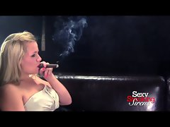 Smoking Fetish - Heidi Formal Gown Cigar