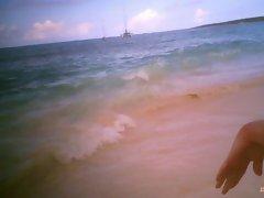Mommy on beach