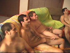 5 BI Chaps and 1 CUM eating Better half