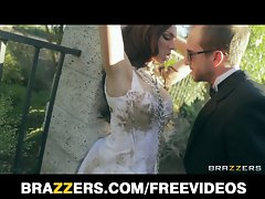 Lingerie clad bride Tiffany Tyler screwed to orgasm