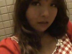 Sensual japanese 19yo seductive sensual girlie masturbation demonstrates her slit