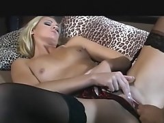 English bitch Ashley Long gets screwed in stockings