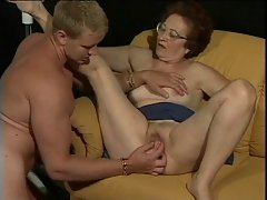 German granny and her 18yo lover