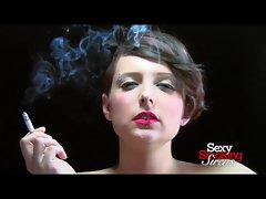 Smoking Fetish - Lola Smoking a Cigarette in Black Gloves
