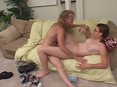 Lezzies older & 18yo playing