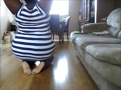 Sexual Naughty ebony Luscious teen Obese Exposes Her Splits!!