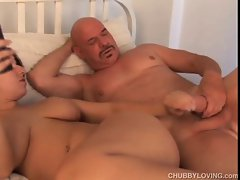 Stunning plump slutty girl delights a rough fuck and a sticky facial