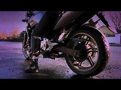 English motorbike nympho bangs an Irishman part 3