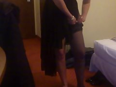 Stockings and heels on for new year in Poland