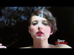 Smoking Fetish - Tempting blonde Nico Smokes a Cigarette