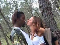 Shaina Arab hijab screwed in forest