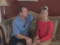 Graceful and attractive slutty wife got her lactating snatch caressed