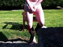 18yo Very hairy Crossdresser Outdoor Solo