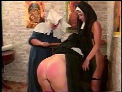 Kinky lesbo nuns BDSM style
