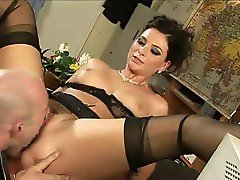 French gendarme fuck girl with black stockings
