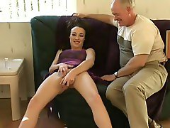 Likes to masturbate in front of old men
