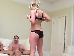 British slut in a FMM threesome
