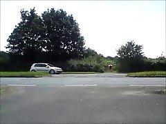 Nude in Public - Crossing road