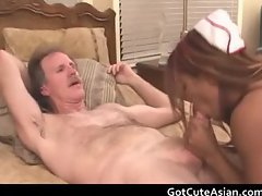 Asian nurse getting her tight pussy part5
