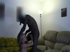 Black violates a blonde coed