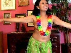 Sexy MILFs hawaiian hula dance and squirting pussy