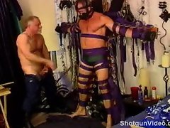 Jim Roberts CBT with bat and cattle prod
