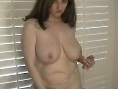 Busty Kitty on dildo masturbation
