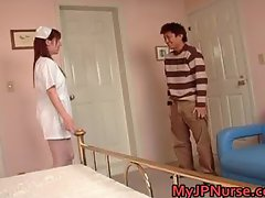 Aki Yatoh Lovely asian nurse rides part1