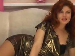 Small Tit Redhead Fucks Her ass