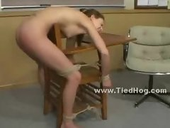 Whore blindfolded in dirty fetishes