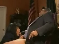 Clintons office deepthroat blowjob