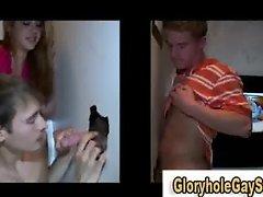 Gloryhole gay tricks guy
