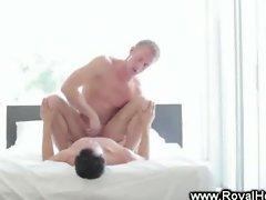 Casey Daniels servicing cock
