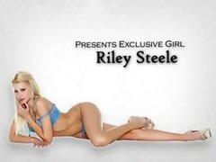 Big-tit blonde escort Riley Steele fucks executive in his office