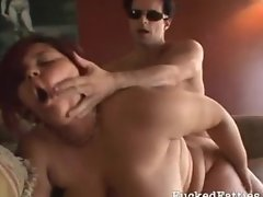 Lovely fat girl gets rammed on the couch
