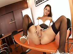 Latina secretary and her lusting bumhole,Defrancesca Gallardo