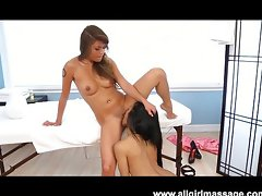 Charmane Star massages out all the kinks ,Charmane Star;Sydnee Taylor