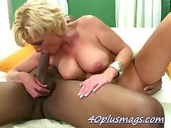 Maggie sucking a real big black dick
