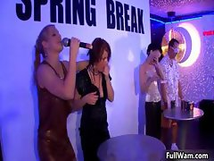 Group of horny euro girls going crazy part6