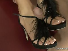 Sophia bella sexy dick play foot fetish