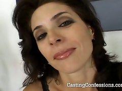 Hot mature babe in first porn scene