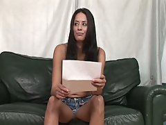 Sexy brunette amateur sizzling hot solo interview show