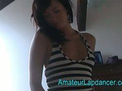Czech amateur babe gives hot lapdance