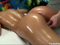 Hd hot brunette mali meyers gets a full body massage